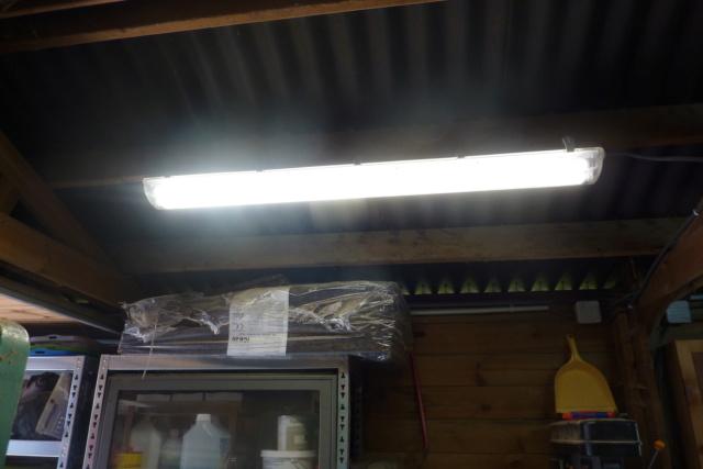 Recablage luminaires double neon pour mettre des tubes led P1120811