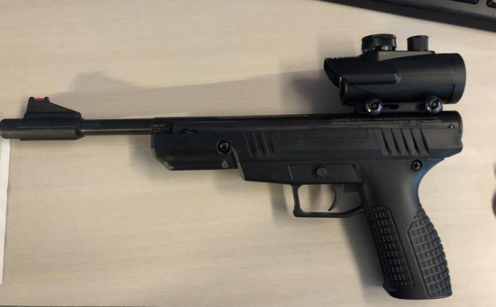 Petit essai du Pistolet Benjamin trail NP 4,5 mm Img_1611