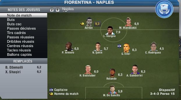 Fiorentina 3 - 2 Naples [SEM1] (Amalfitano blesser) Compo_92
