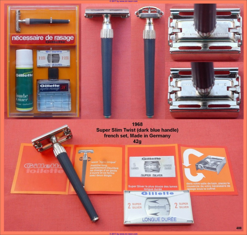 Kit de rasage Gillette année 60 1968_s10