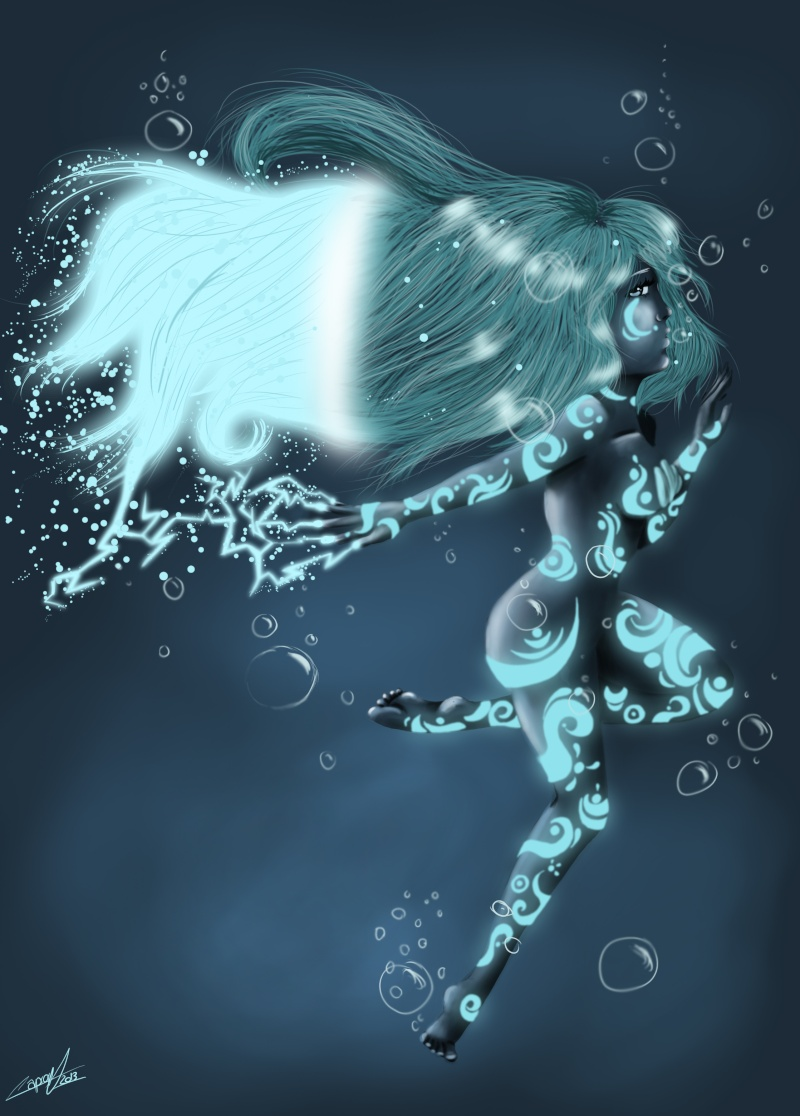 Speed painting - Water's girl Blue_g10