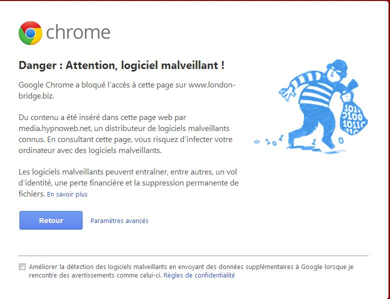 Logiciel Malveillant sous Chrome Captur11