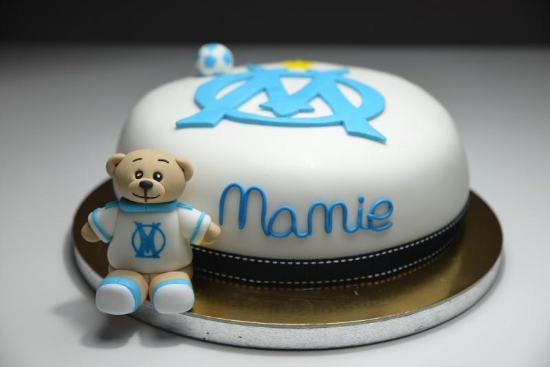 Gâteau sur le thême de L'olympique de Marseille Image10
