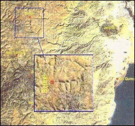 uralte Worte in Felsboden in IsraEl eingraviert und per Satelitaufnahmen zu sehen 10653610