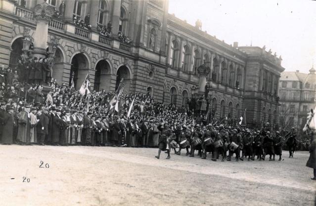 Défilé Militaire Strasbourg 1919 - Inauguration de l'Université Sfr-na11