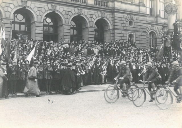 Défilé Militaire Strasbourg 1919 - Inauguration de l'Université Sfr-na12