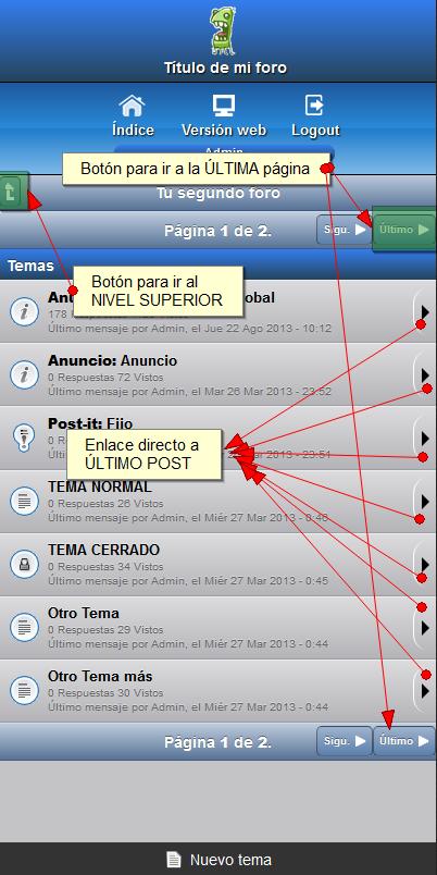 Mejoras Versión Móvil :: Paginación, Logo, Post reciente y Usuario conectado Zsubfo10
