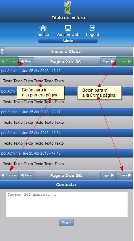 Mejoras Versión Móvil :: Paginación, Logo, Post reciente y Usuario conectado Ztemas10
