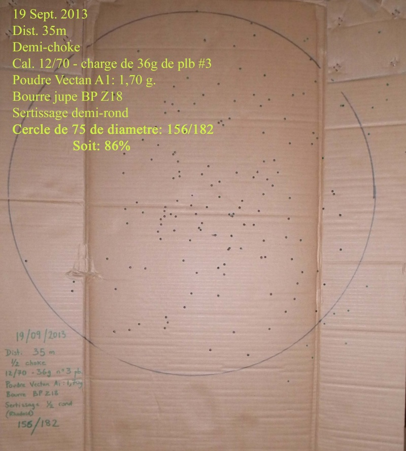 Tests sur cible - Cartouches 12/70 -36g Patter14