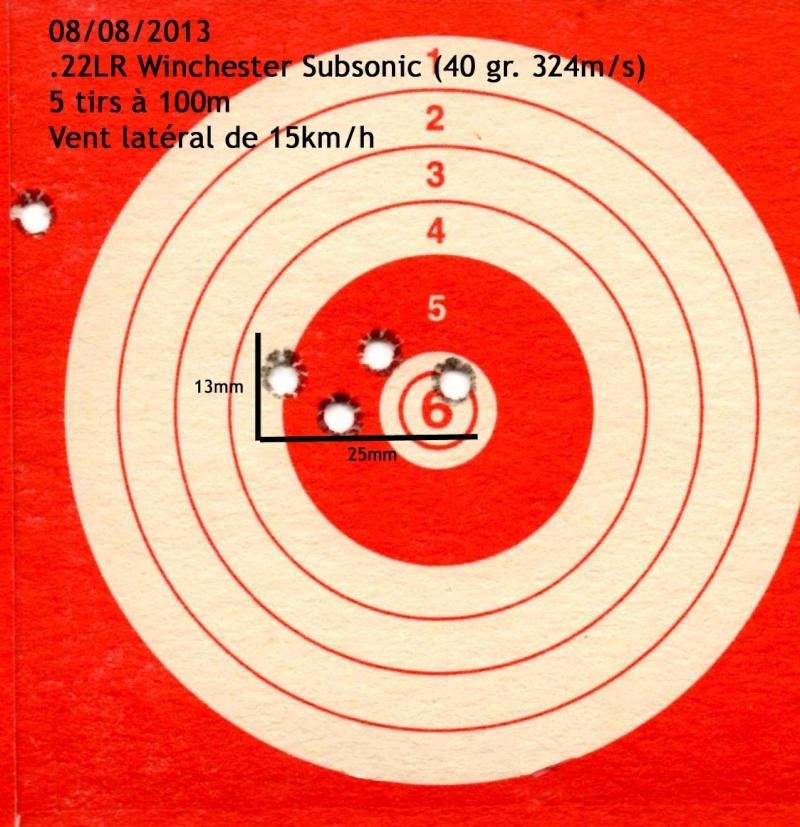 quel munition pour la 22lr Target10