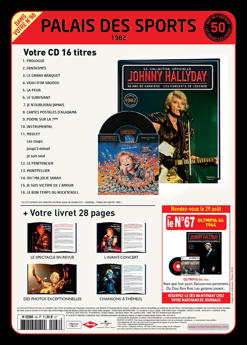 Volume 66 Palais des Sports 1982 Jhcoll11
