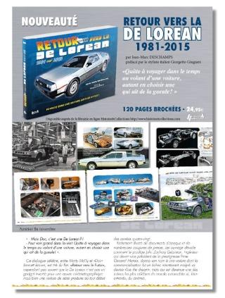 [Livre] Retour vers la De Lorean - la mythique voiture de Retour vers le futur - par Jean-Marc Deschamps 10372210