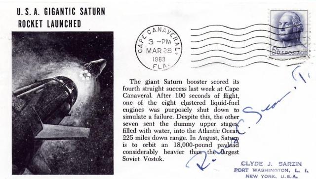 28 mars 1963 - Dernier vol-test du 1er étage de la Saturn I - Mission SA-4 1963_010