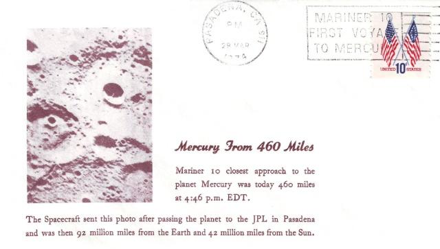 Philatélie spatiale USA - 1975 - Mariner 10 / Venus et Mercure 1974_013