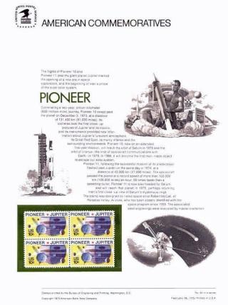 Philatélie spatiale USA - 1975 - Pioneer 10 / Jupiter Pionee12