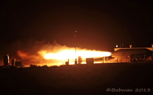 SpaceShipTwo - Essai moteur au sol 28 février 2013 Qual1-10
