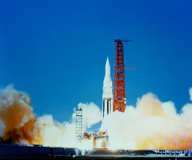 28 mars 1963 - Dernier vol-test du 1er étage de la Saturn I - Mission SA-4 Sa-4_d10