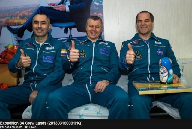 16 mars 2013 - Retour sur Terre de Soyouz TMA-06M Soyouz10