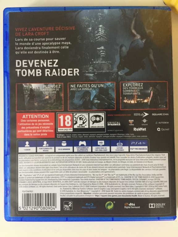 [VDS-ECH] Shadow of the tomb raider PS4 TBE 35 in 359b7910