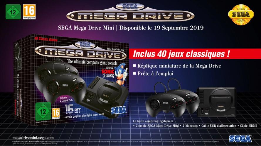 Mega Drive Mini : Date de sortie, prix et 10 jeux révélés par SEGA 94c8c110