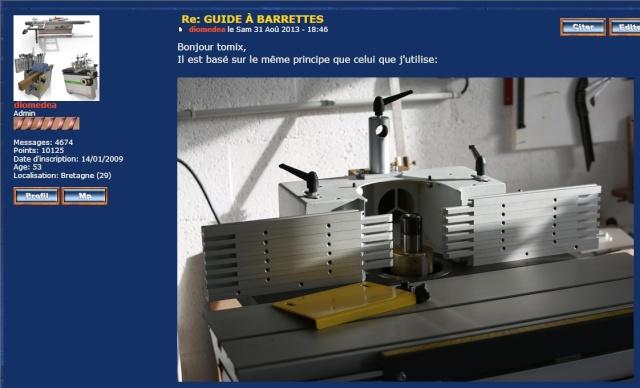 guides de sécurité pour toupie : le point Guided12