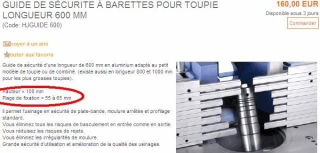 guides de sécurité pour toupie : le point Pubpro10