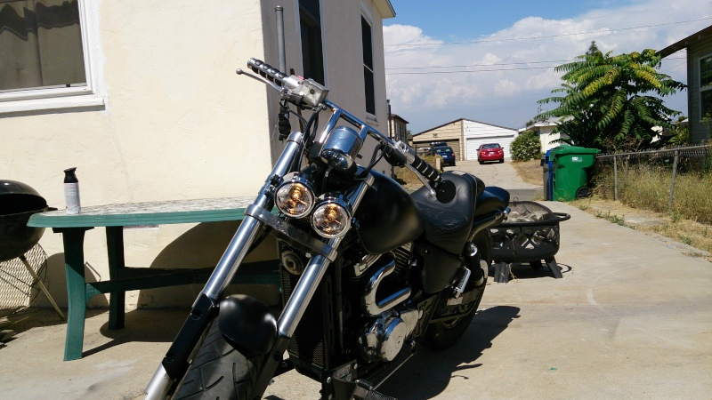 I'm back! And the bike has almost risen! .......... 2001 Marauder 800 2013-011