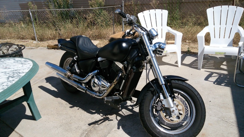 I'm back! And the bike has almost risen! .......... 2001 Marauder 800 2013-012