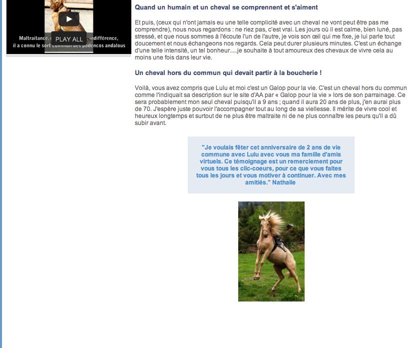 LUTSIANO dit LULU- ONC Selle né en 2004 - adopté en mars 2011 par Isaline - Page 3 Captur10