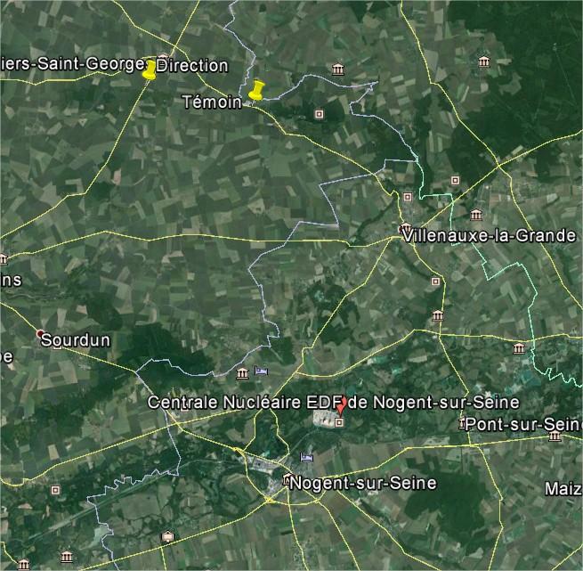 2014: le 13/10 à 06h10 - Lumière étrange dans le ciel  -  Ovnis à LOUAN VILLEGRUIS FONTAINE - Seine-et-Marne (dép.77) Google11