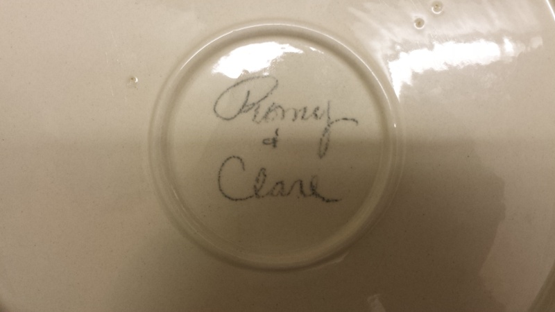 Does anyone know much about this potter Remy Clare? 20141113