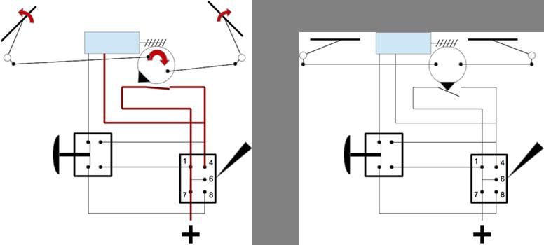 Essuie-glace - schéma électrique 6_park10