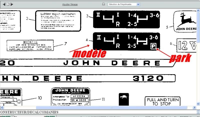 John Deere 3120 et frein a main 3120_110