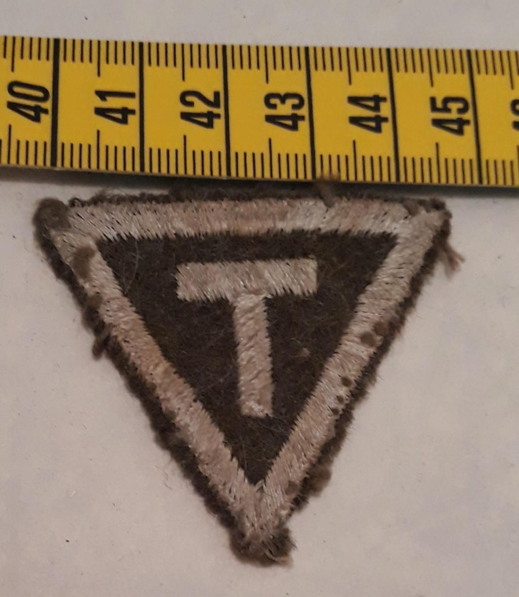 insigne tissu T à identifier  20200486