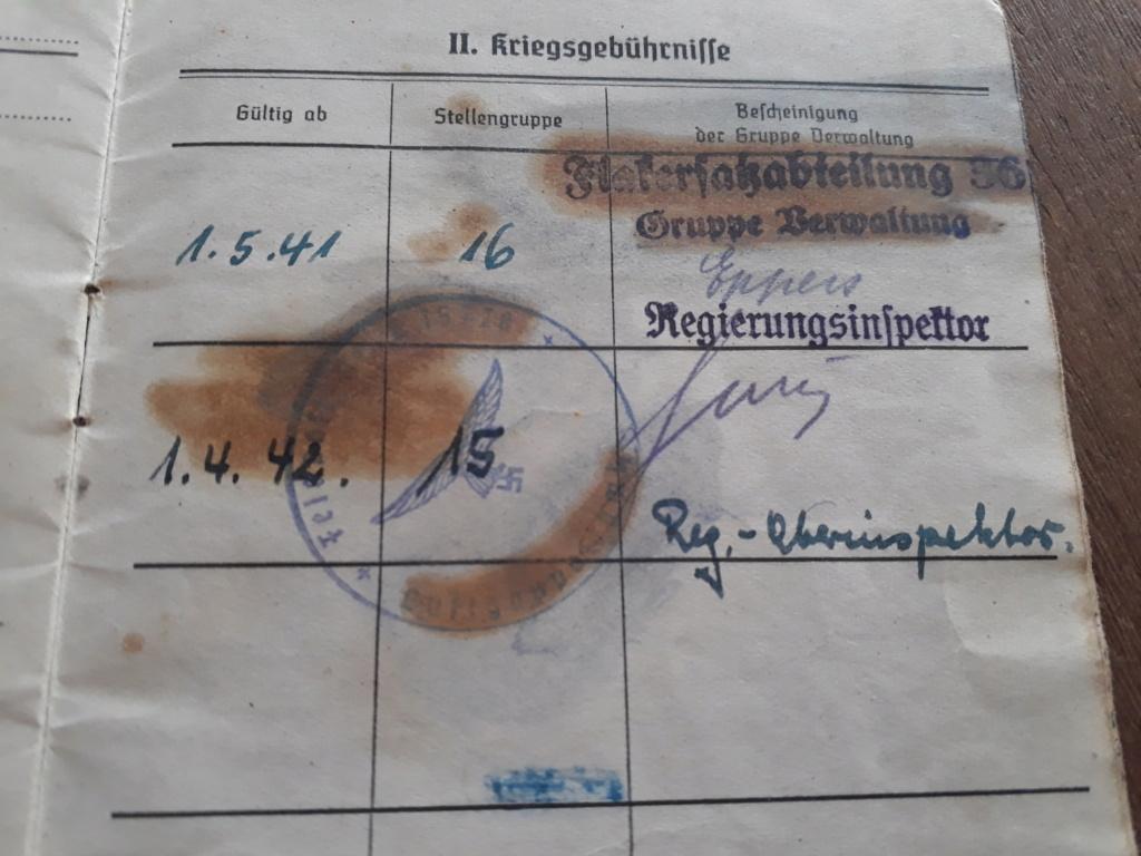Deux Soldbuchs Luft à déchiffrer 20200968