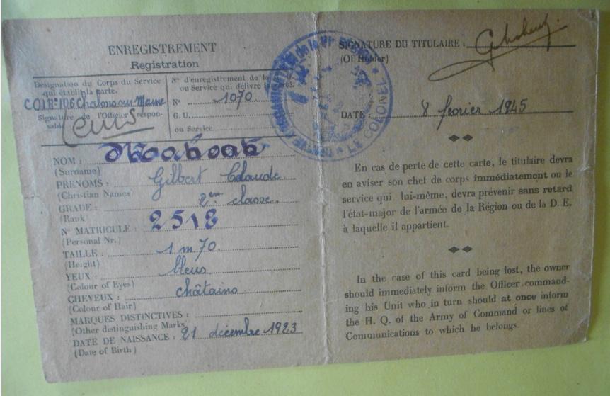 Carte identité sous officier 1944 Captur14