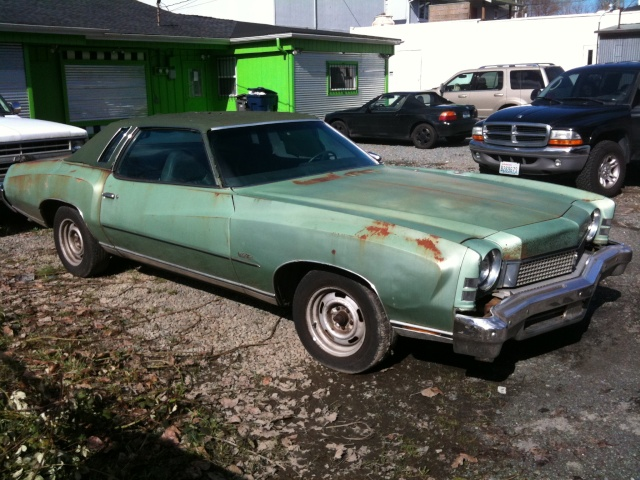 pictures of a 73 Monte I saw for sale March_11
