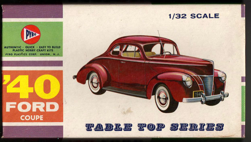 '40 Ford Coupe - Table top series - American Stock car - 1:32 scale - Pyro Box13