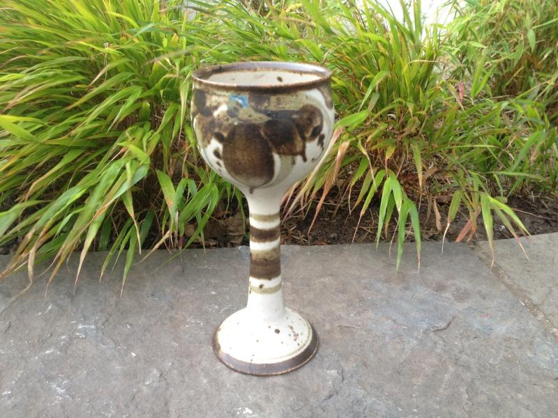 Goblet anybody recognise - Sarn Pottery Img_0515