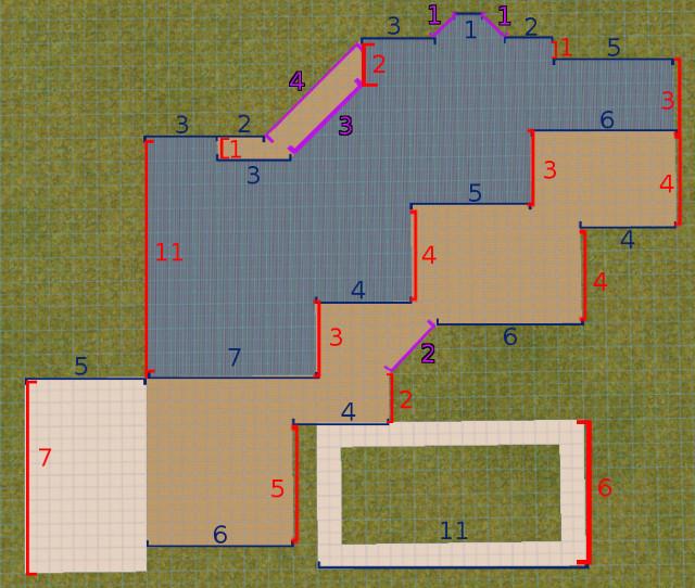 [Apprenti] Construire une maison un peu plus compliquée à partir d'un plan   1123