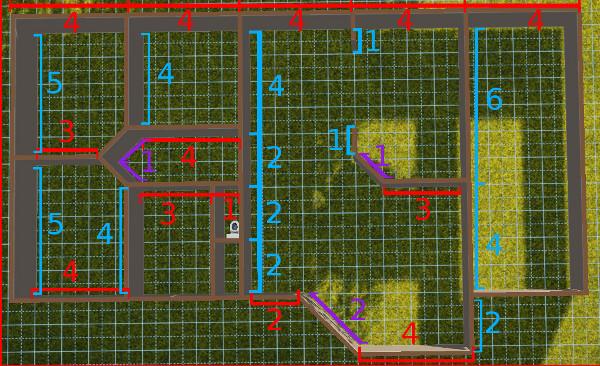 [Débutant] Construire une maison simple à partir d'un plan 1715