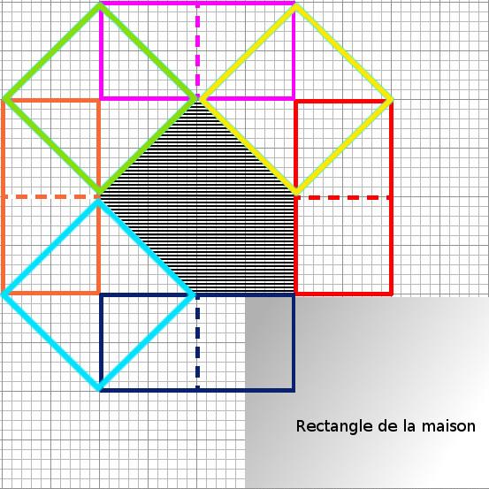 [Débutant] - Du carré à la maison victorienne - La maison bleue Grille12