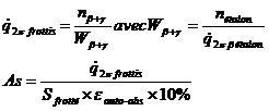Activité bêta/gamma d'un frottis mesuré en bêta As11