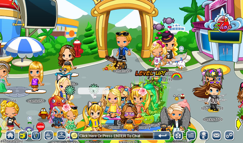 wow. look at fantage without events on a full server Abette10