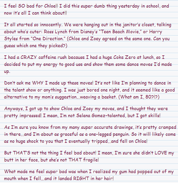 My first story I guess... Miranda<3 Dork10