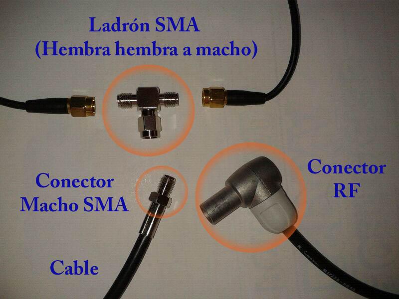 Alimentación amplificador antena TDT interior. Conect10