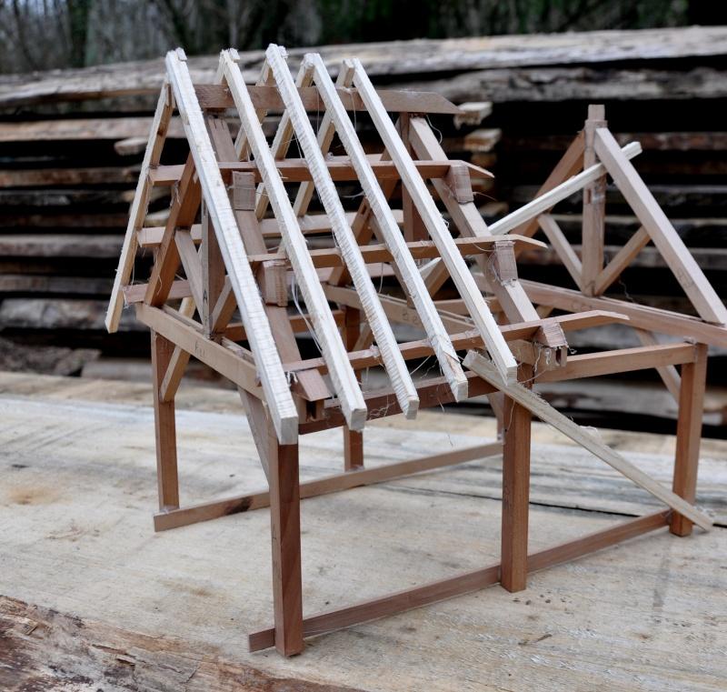 construction d'un abri en charpente 11310