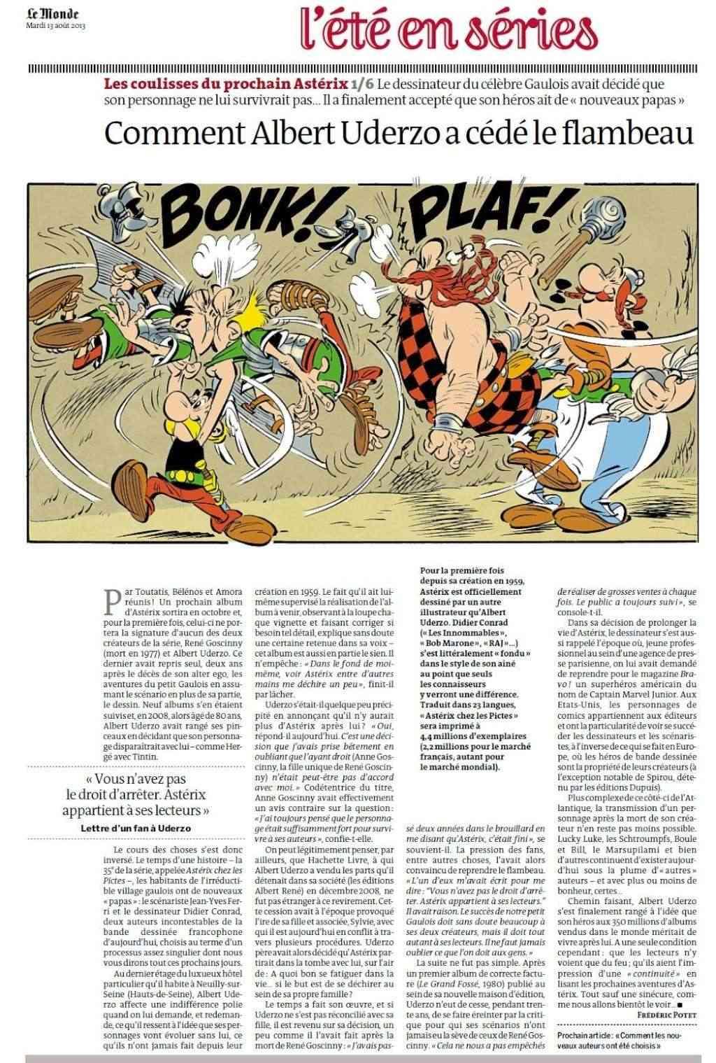 """""""Astérix chez les Pictes"""" Tome 35 (24 Octobre 2013)    Lemond11"""