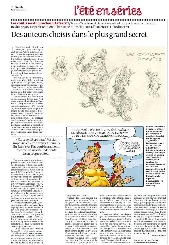 """""""Astérix chez les Pictes"""" Tome 35 (24 Octobre 2013)    Lemond13"""