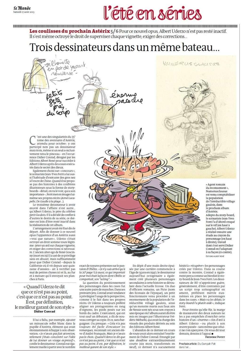 """""""Astérix chez les Pictes"""" Tome 35 (24 Octobre 2013)    Lemond17"""